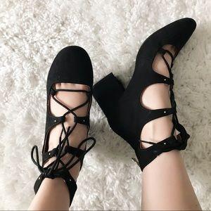 Lace-up Block Heels